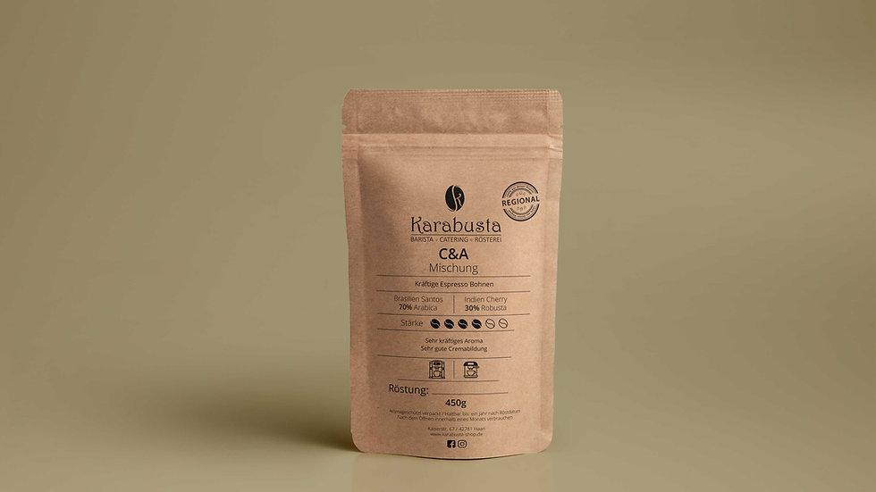 Vollautomat / Siebträger Espresso Bohnen C&A Mischung  70/30