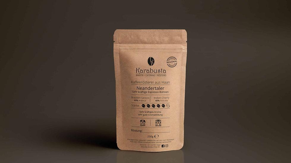 Kraftvolle Espresso Bohnen NEANDERTALER Mischung 60% / 40%