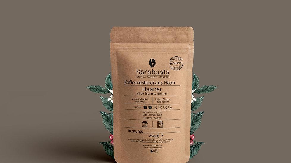 Espresso/Kaffee HAANER  90/10 Mischung Preis: 250g/6,90€ & 400g/9,90€