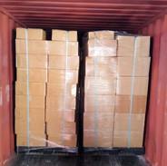 palletized cargo loading in 20 feet cont