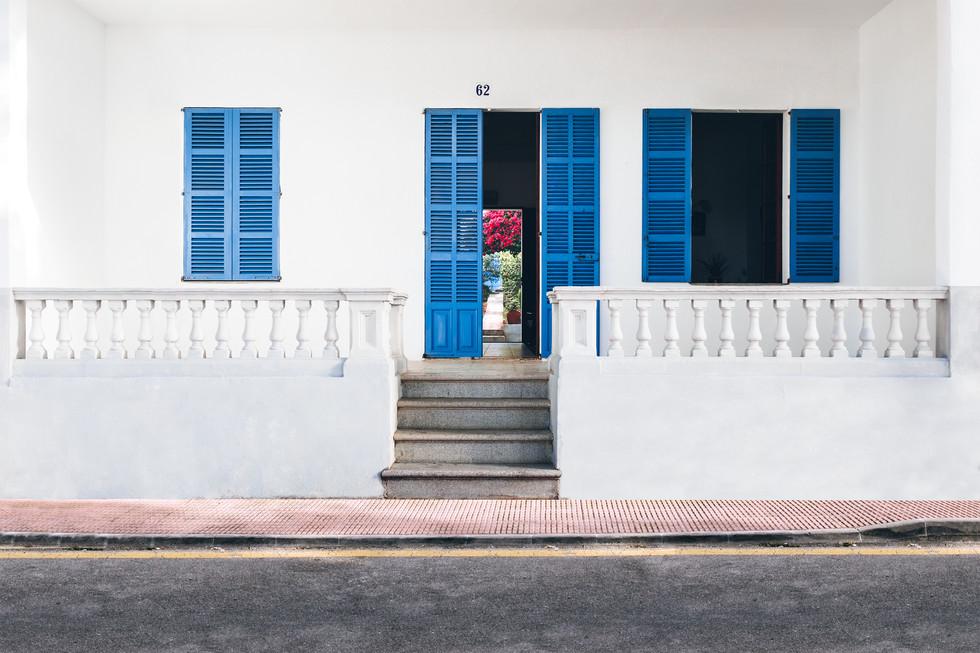 Tür Eingang Farbe Mallorca minimal  Fotografie Foto Auftragsfotograf Philipp Löffler Loeffler - München