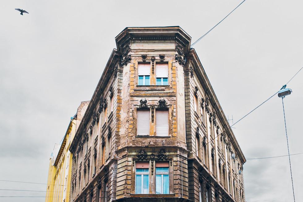 Gebäude Architektur Architekturfotografie Budapest Strasse minimal Foto Philipp Löffer Loeffler - München