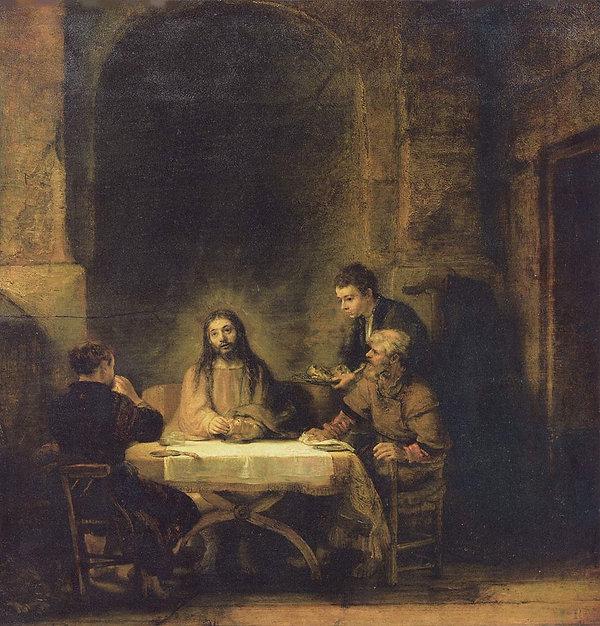 Rembrand Emmaus 2, 981px-Rembrandt_Harme