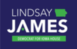 Lindsay James Democrat for Iowa House D99 logo