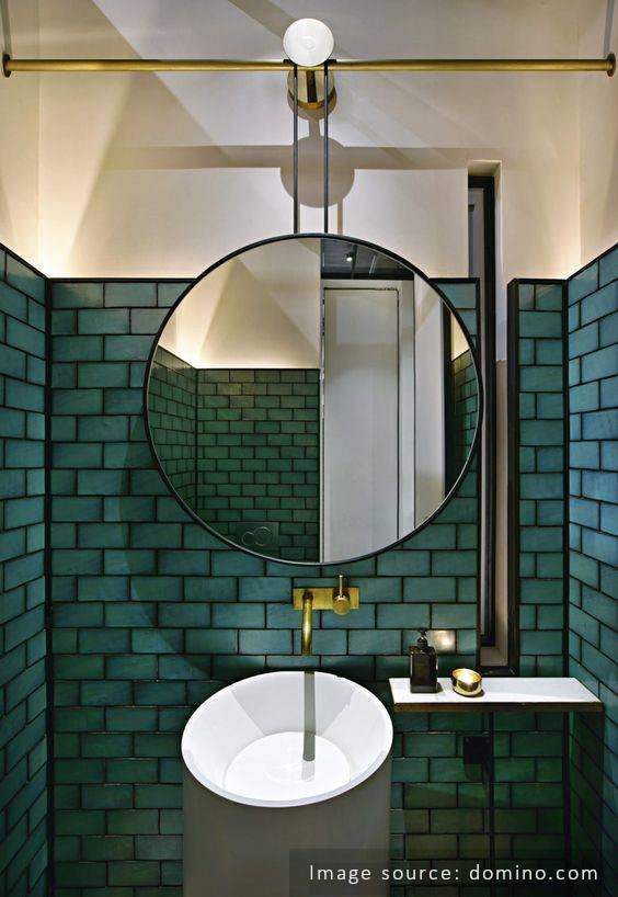 black grout turquoise tile