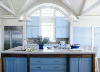 Go BOLD! Our favorite examples of colored cabinetry in the kitchen