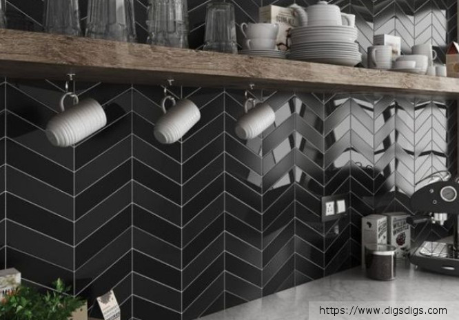 black-tile-kitchen-backsplash