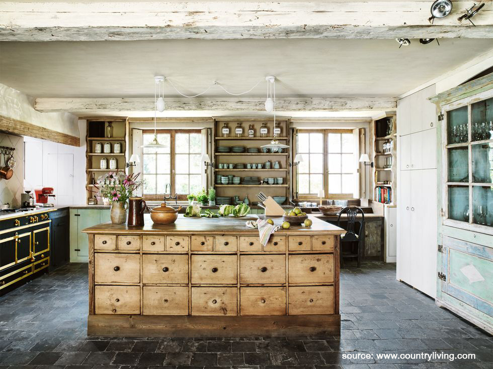 Farmhouse Kitchen Repurposed Island