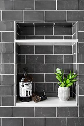 Modern Bathroom Black Tiles
