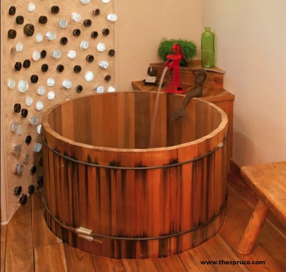 Wooden Barrel Tub
