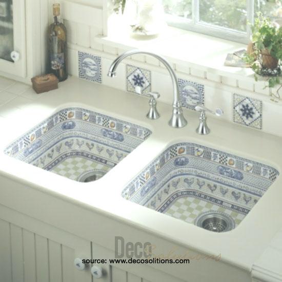 Patterned Tile Sink