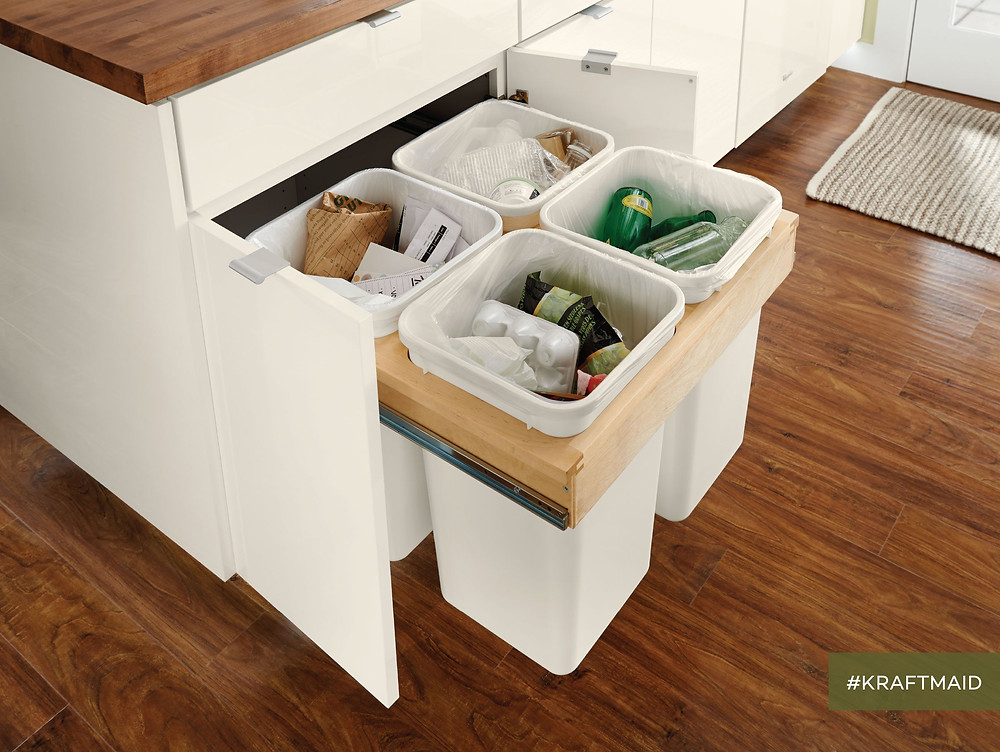 recycling station built in under cabinet kitchen design