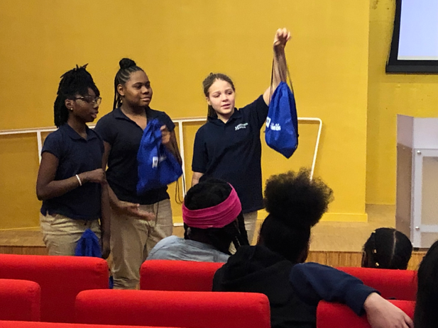Henderson Hopkins students during a University of Baltimore college tour