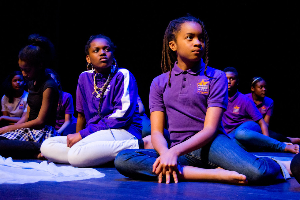 Baltimore Leadership School for Young Women performing on the Modell-Lyric stage.