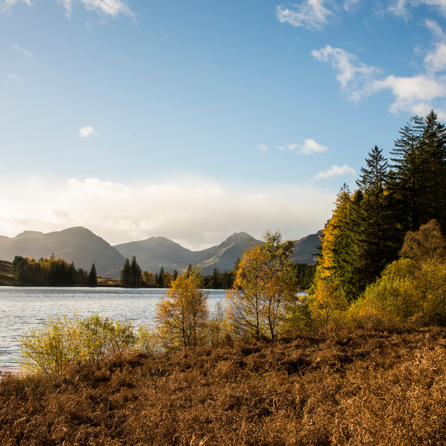 Autumn view of Loch Chon