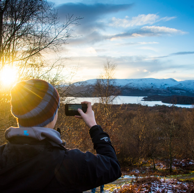 Perfect scenery for photography - on a walk up Conic Hill