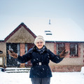 Mum one snowy morning