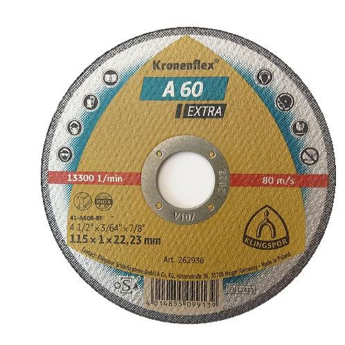 "Disco de corte finos Kronenflex A60 EXTRA 4 1/2"" x 1"