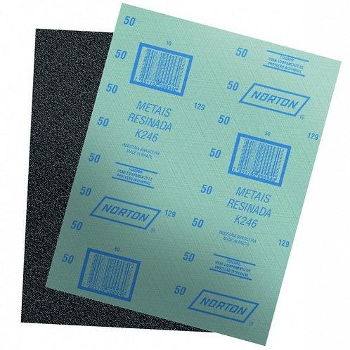Pliego de lija K-246 Esmerial / Fierro Norton Metalite