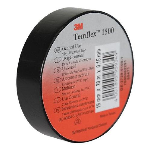Cinta aislante eléctrica Temflex 1500 3M