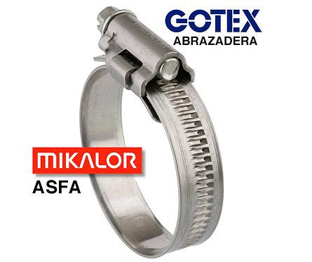 Abrazadera cremallera ASFA S W2 ancho banda 12 mm acero inox 430.