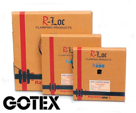 Fleje con revestimiento PVC RAYCHEM acero inox. 304