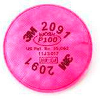 3M Filtro para partículas 2091, P100 polvos, neblinas, humos y radionucleidos