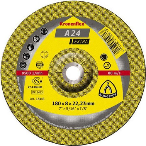 Disco desbaste klingspor metal A24 EXTRA