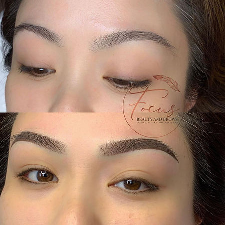 Ombre Powder Brow Tattoo