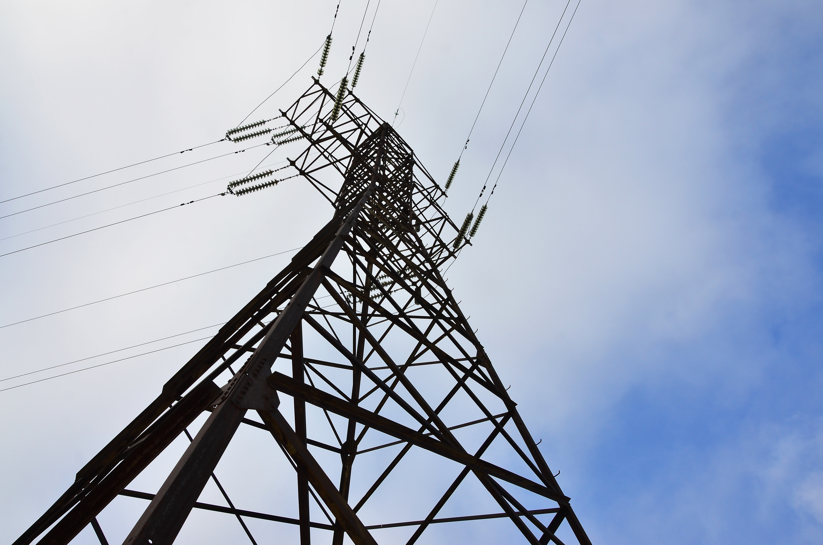 High Voltage Electric Tower. Electricity Transmission Pylon