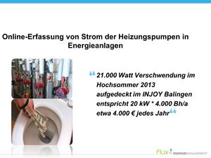 Online-Erfassung von Strom der Heizungspumpen in Energieanlagen