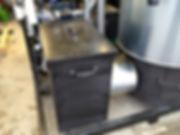 Ascheaustragung des Holzvergaser BHKWs