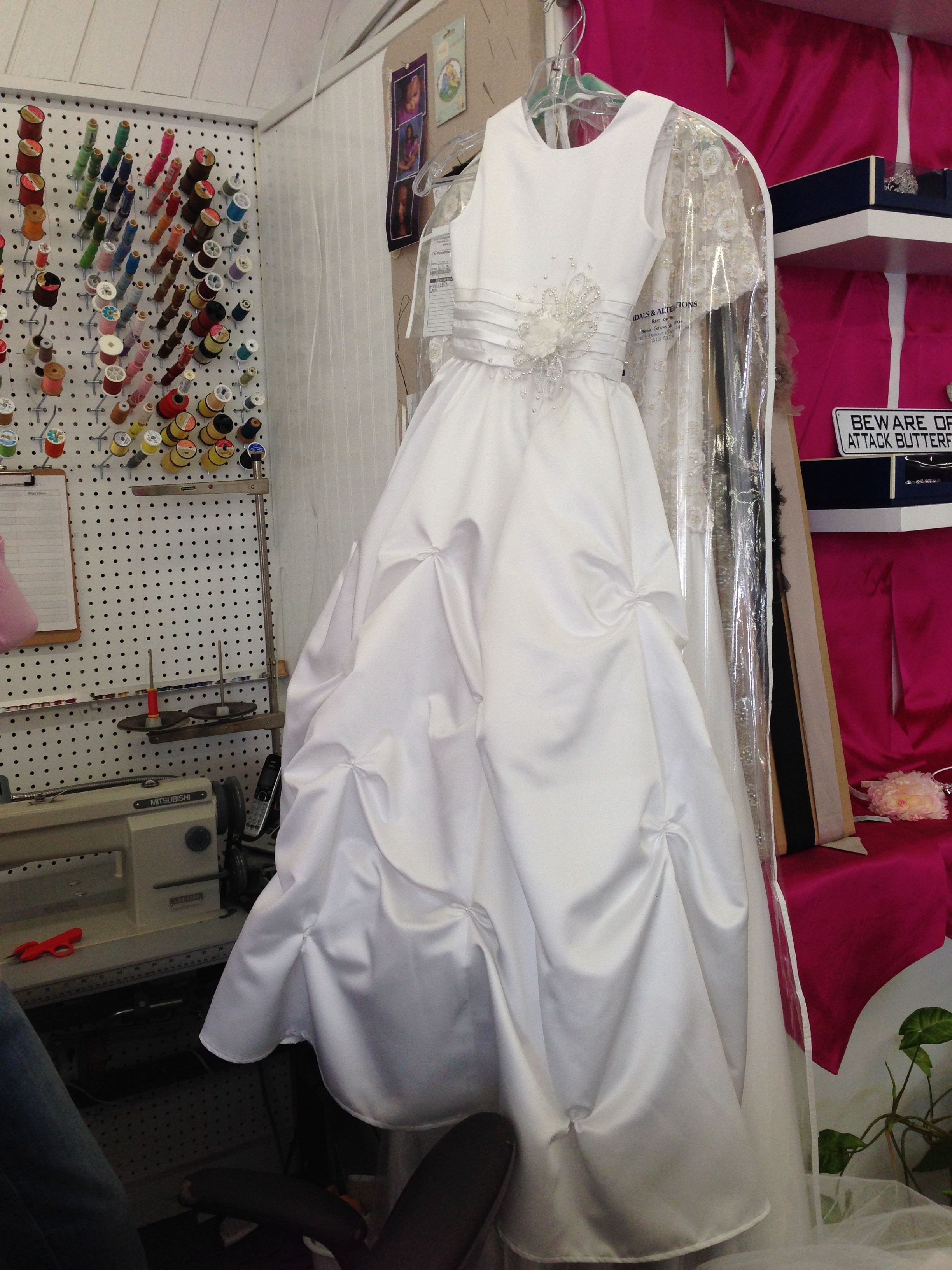 1st communion dress from bridal gown