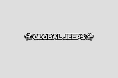 GlobalJeeps Windshield Banner