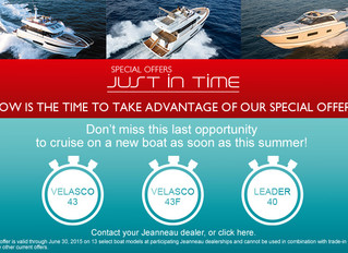 Jeanneau Just In Time Summer Stock Boat Offers