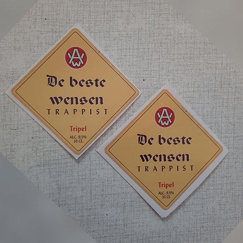 Westmalle Tripel Bieretiket: De beste wensen