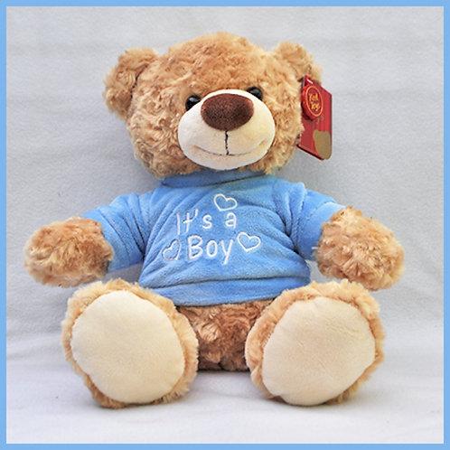 BEER.IT'S A BOY.BLAUW T-SHIRT - 30CM