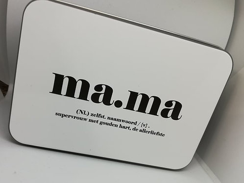 Blikkendoos Papa/Mama LAATSTE STUKS