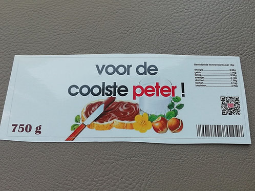 NUTELLA STICKER: Voor de coolste peter! (Enkel de sticker)