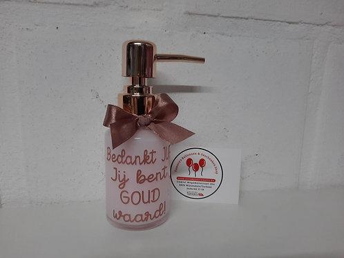 Handzeep in een glazen flesje: ROSE GOUD (H14)