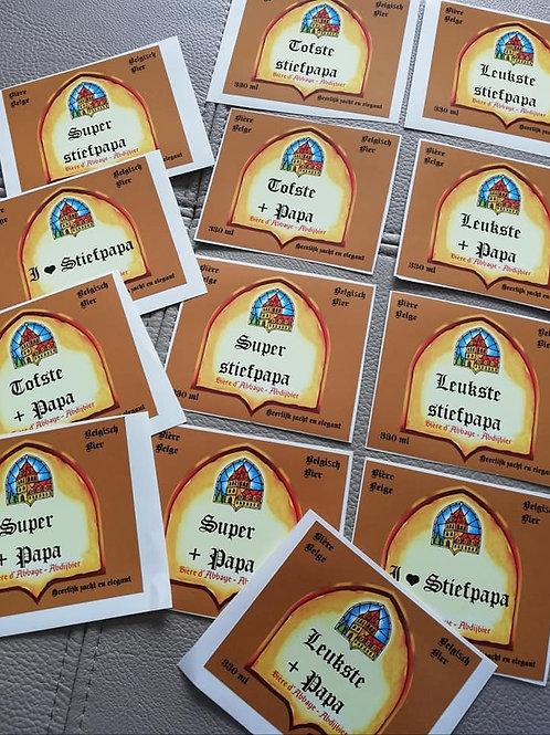 5 LEFFE BLOND Etiketten: Wil jij mijn Peter zijn? (IN STOCK)