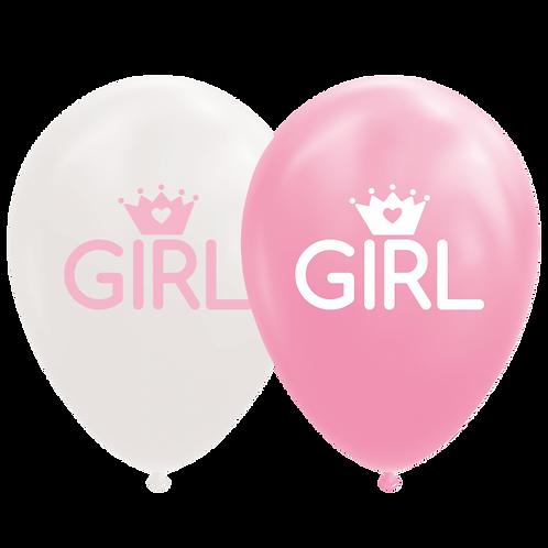 8 x Ballonnen GIRL
