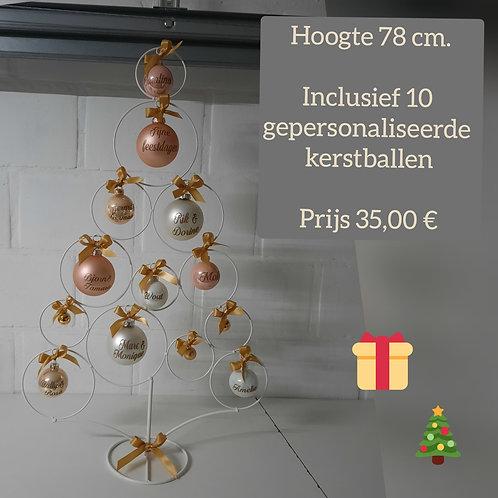 Metalen Kerstboom. H78 cm