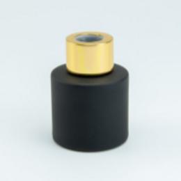 Parfumfles (LEEG) 50ml zwart met gouden dop.