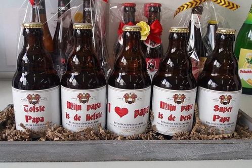 Bier etiket.
