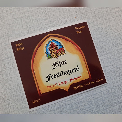 Bruine Leffe Bieretiket: Fijne feestdagen