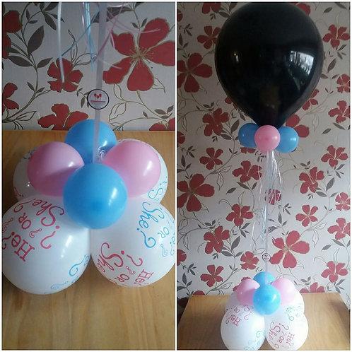 Zwarte ballon 18inch met helium GENDER REVEAL