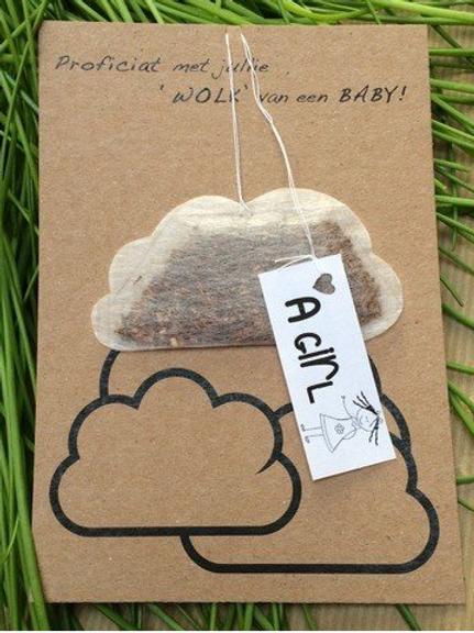 Thee Wenskaart: Voor een wolk van een baby... A GIRL