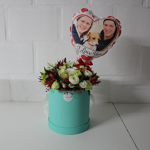 Flowerbox + Fotoballon GROOT
