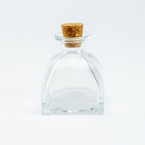 Parfumflesje in glas met kurkstop - 60ml